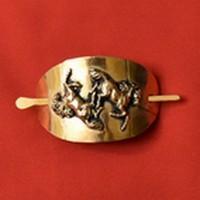 Romping horses Hair clip