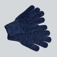Horse riding gloves Equi-Theme knitting blue mottled