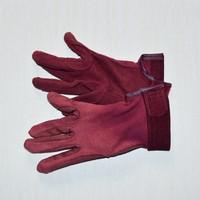 Bordeaux flocked Equestrian riding gloves