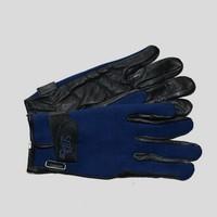 Gants equitation Like A Glove cuir néoprène bleus taille L
