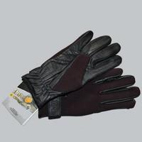 Gants equitation Like A Glove cuir néoprène marron taille M