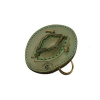 Country key ring cowboy hat green up