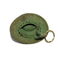 Country key ring cowboy hat green inner