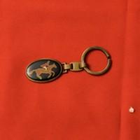 Porte clef ovale cavalier cheval