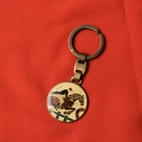 Round key ring Rider and Horse